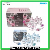 (Bantal dan Guling) Tommee Tippee Decorated Bottle Starter Set Biru &