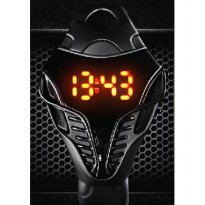 Jam Cobra Transformer+Kotak LED Watch Robot Digital Watch Tangan Watch