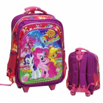Tas Trolley SD Import My Little Pony 5D Timbul 3 Kantung - Pink