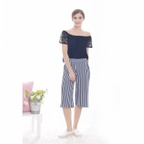 Jfashion New Stripe Cropped Cullotes - Rini