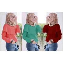 BLOUSE NATASHA 3 WARNA NO PASHMINA JERSEY SUPER FIT TO L BESAR