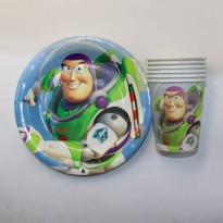 [globalbuy] NEW Toy Story theme paper cup +7inch paper plate tableware for birthday,party /3182485