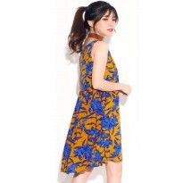 HMD Coco Blue floral Dress-Best Seller Women Dress|Dress Wanita|Terusan Wanita Branded