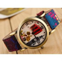America Hot Trend BIG BEN Jam Tangan Kanvas Kulit Denim Fashion Canvas