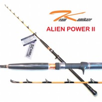 Team Kamikaze Alien Power II 400 OH Jigging Rod - Fuji SIC