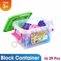 Buy 1 Get 1 Free Creative Block Container Mainan Edukasi Anak OCT9217 - Multicolor