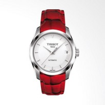 TISSOT T0352071601101 Couturier Automatic Lady Jam Tangan Wanita Red