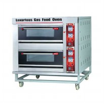 Fomac Mesin Oven Roti Gas 2 Deck (BOV-ARF40H) - Silver