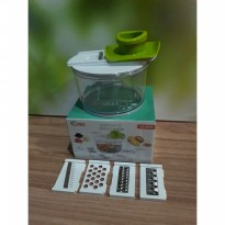 [Sale] CYPRUS 5 IN 1 KITCHEN GRATER / PEMARUT + CONTAINER WADAH SI-0078 PROMO