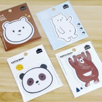Little Bear Single Piece Post-its - Label Note Kertas Catatan Mini Ukuran Kecil Unik Lucu Imut Murah
