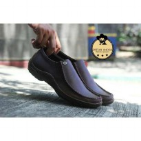 sepatu slip on dream shoes kulit