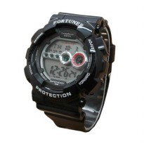 Fortuner FR 3257 Digital Jam Tangan Pria Black