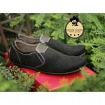 sepatu slip on dream shoes lalana kulit suede