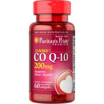Coenzyme Q-SORB Co Q-10 200 mg|60 SG Puritan's Koenzim Co-enzyme CoQ10