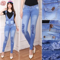 SB Collection Celana Panjang Salsa Jumpsuit Overall Jeans Wanita