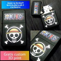 Zippo one pieces custom 3D print bisa request gambar suka-suka