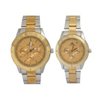 Fortuner FT090CG Couple Watch Gold