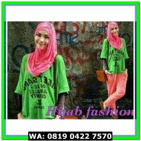 (Blouse Muslim) 3in1 Hijab green