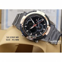 Jam Tangan Pria Swiss Army Double Time Stainless Steel_Super