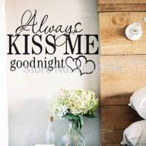 [globalbuy] Always Kiss Me Goodnight Wall Sticker Vinyl Quotes and Sayings Home Decoration/3200463
