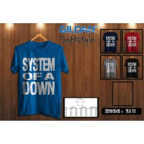 Kaos Musik Band System of Down - Kaos Original Gildan Softstyle