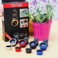 FISH EYE 3 IN 1 / LENSA / CLIP LENSA HANDPHONE / SUPER WIDE