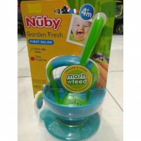 Nuby Baby Food Grinder Mash n Feed Bowl with Cover & Sp