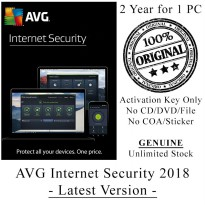 AVG Internet Security 2018 - 2 Year for 1 PC - Genuine