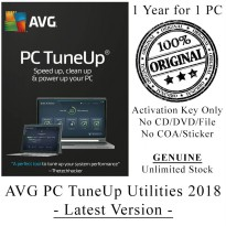 AVG TuneUp Utilities 2018 - 1 Year for 1 PC - Genuine