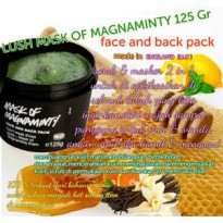 LUSH MASK OF MAGNAMINTY FOR FACE & BACK PACK