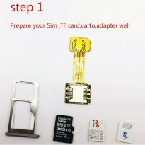 Converter Adapter Sim Card Nano to Nano Hybrid Dual SIM Phone