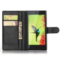 [globalbuy] For BlackBerry Leap Wallet Card Stent Cases Lichee Pattern Case Flip Leather P/5422264