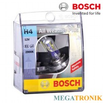 Bosch Lampu Mobil All Weather Plus H4 12V 60/55W P43t - 1 Pcs GROSIR