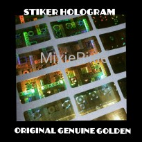 Genuine Original Golden stiker hologram per 10 lembar