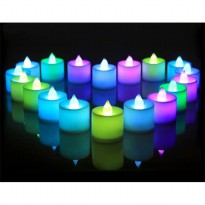 Lilin LED Elektrik 7 Warna Mini - Colorful LED Candle