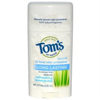 Tom's of Maine Natural Long Lasting Deodorant Refreshing Lemongrass