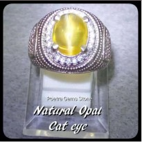 CINCIN NATURAL OPAL CAT EYE LUSTER AJIB TALI GARIS LURUS