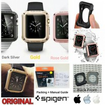 SPIGEN Original Case Cover iWatch Jam Tangan Apple Hybrid Silikon