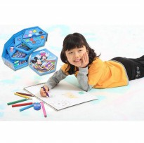 Hot Deal's 4 in 1 Crayon Set 4 tingkat isi 46 pcs crayon alat menggambar