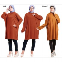 JO & NIC LUCINDA Tunik Dress Turtleneck Jumbo Wanita - Big Size Fit up to XXXL