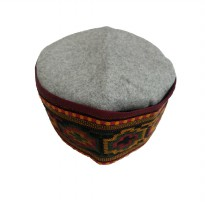 Peci India - Bahan Wool Bordir Khas India - grey 544905.3