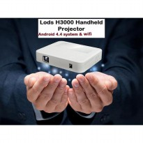 Lods H3000 Wifi Bluetooth Dlp Mini Pocket Projector Android + Battery 3200 Mah