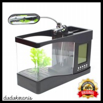 Aquarium Digital Mini Akuarium USB Jam Kalender Running Water PER-363