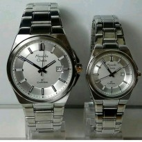 Jam Tangan Couple Alexandre Christie Ac-8506 Silver White Original