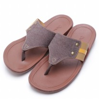 Dr.Kevin Canvas Sandals 17148 Brown, Grey, Blue