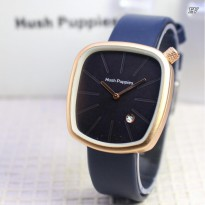 Jam tangan wanita Hush Puppies Tali Kulit (Gold dark blue)