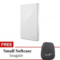 Hardisk External Seagate Backup Plus Slim 1TB Usb 3.0 Putih + Pouch