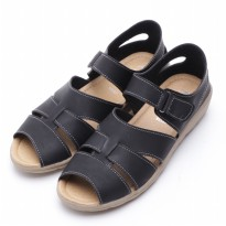 Dr.Kevin Leather Women Sandals 43125 Black