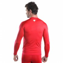 Baselayer Manset Tiento Long Sleeve Red White Original