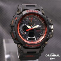 Termurah! Jam Tangan Pria Tetonis Original Man TM2005 Rubber Black Red